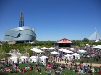 Winnipeg Celebrates Pride Day at the Base of the Human Rights Museum . Photo by Rachel Swatek