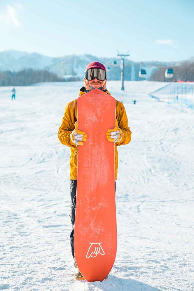 Aaron Lebowitz with the 5'10 Redtail Hawk in Japan.