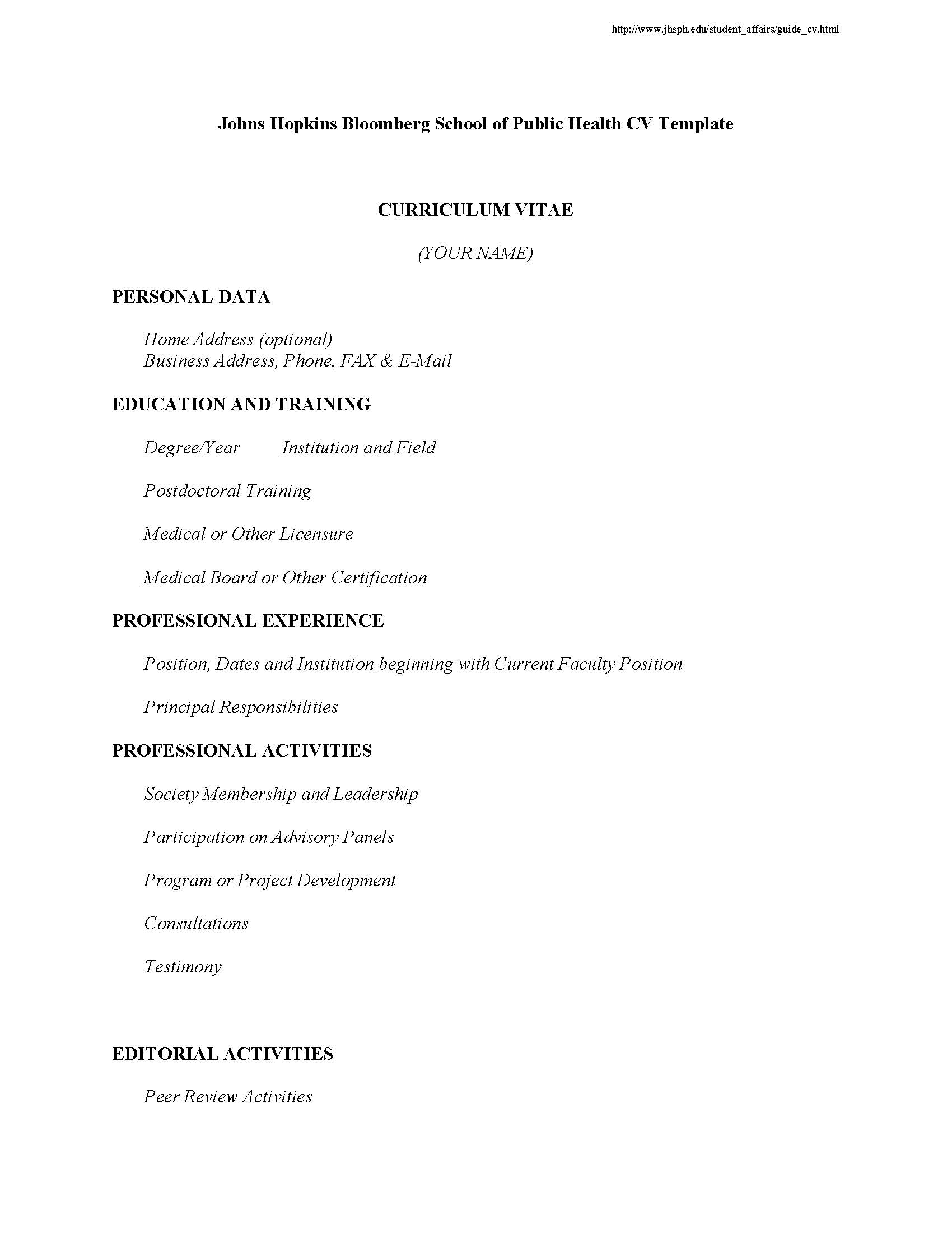 Format Of Resume For Student Resumes And Cvs Career Resources For Students Career