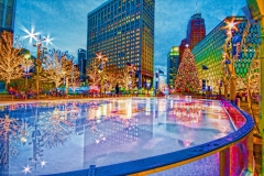 Advertising | Christmas in Campus Martius Park | Detroit, Michigan | Image by Indianapolis architectural photographer Jason Humbracht