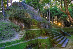 Sunset at Cahal Pech Maya Site in San Ignacio, Belize | Image by Indiana Architectural Photographer Jason Humbracht