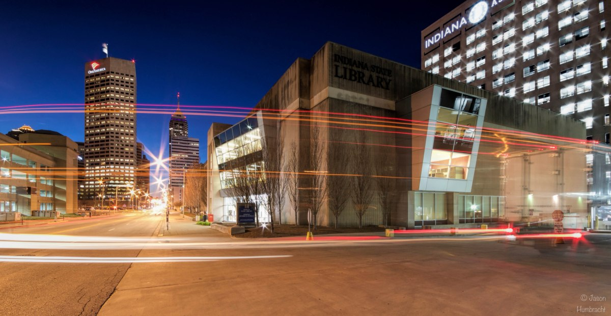 Indiana State Library | Architecture of Indianapolis | Progression of the Blue Hour