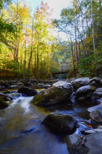 Smoky Mountains Waterfall | Fall in The Smokies | Image By Indiana Architectural Photographer Jason Humbracht