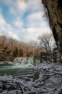 Winter Cataract Falls | Indiana Waterfalls | Sunrise Cataract Falls | Spencer, Indiana | Image By Indiana Architectural Photographer Jason Humbracht
