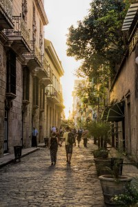 The sun's setting light erupts down the streets of Old Havana, Cuba | Image By Indiana Architectural Photographer Jason Humbracht