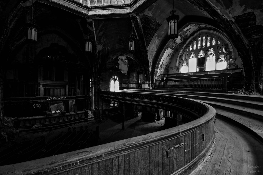Abandoned Detroit Urbex Photography | Woodward Avenue Presbyterian Church