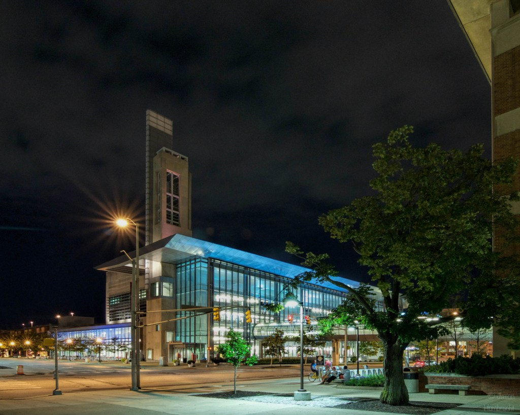 IUPUI at night | Indianapolis Architecture | Indiana Architectural Photographer