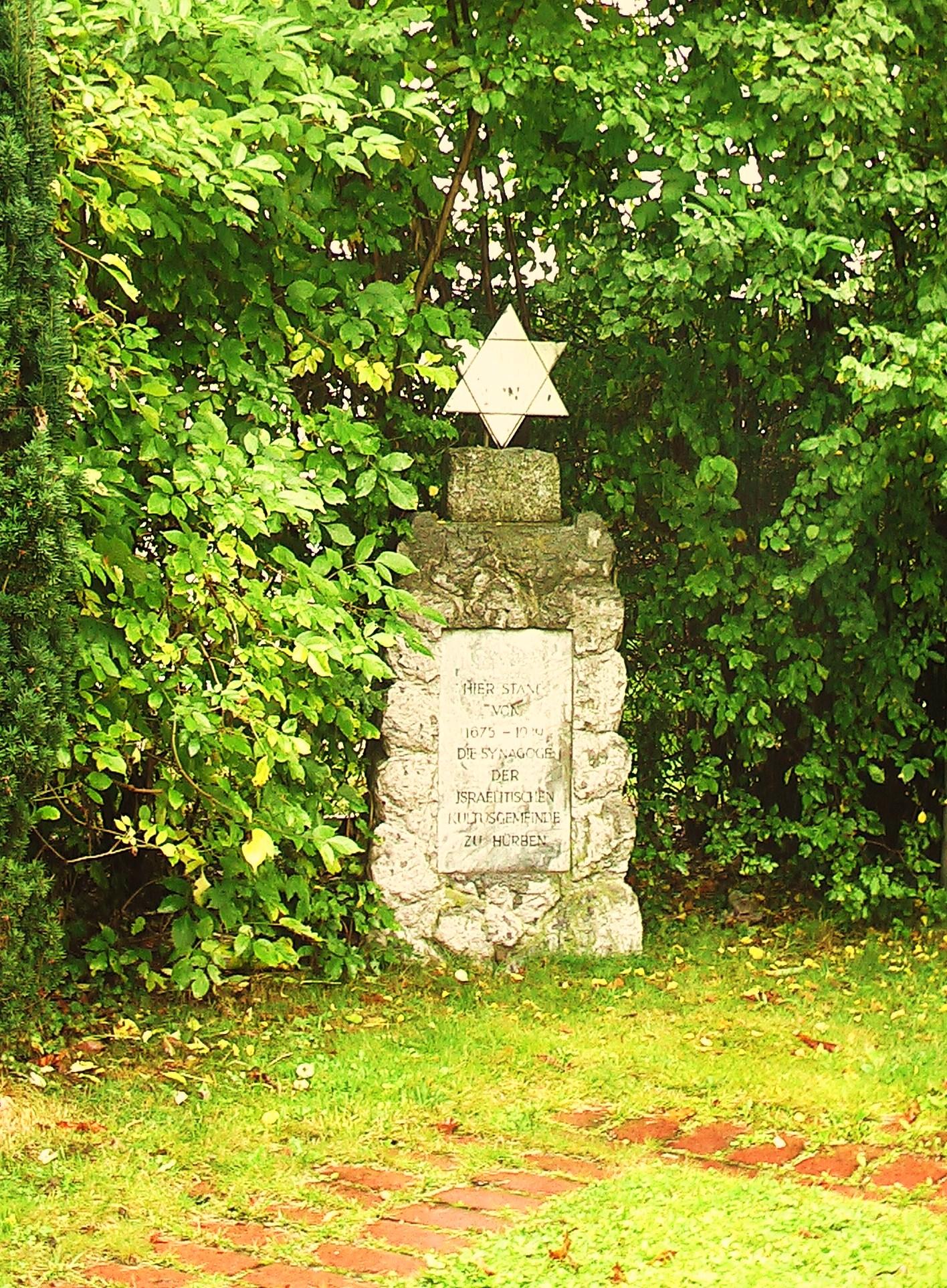 Gedenkstein für die ehemalige Synagoge Hürben
