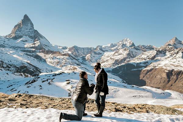 Custom Ring Proposal in Switzerland