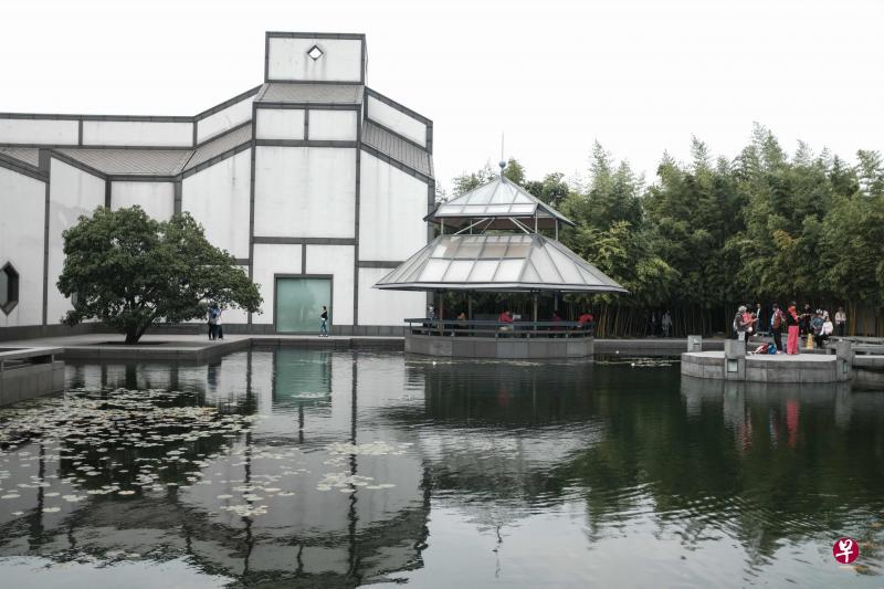 贝聿铭设计的苏州博物馆。(法新社)