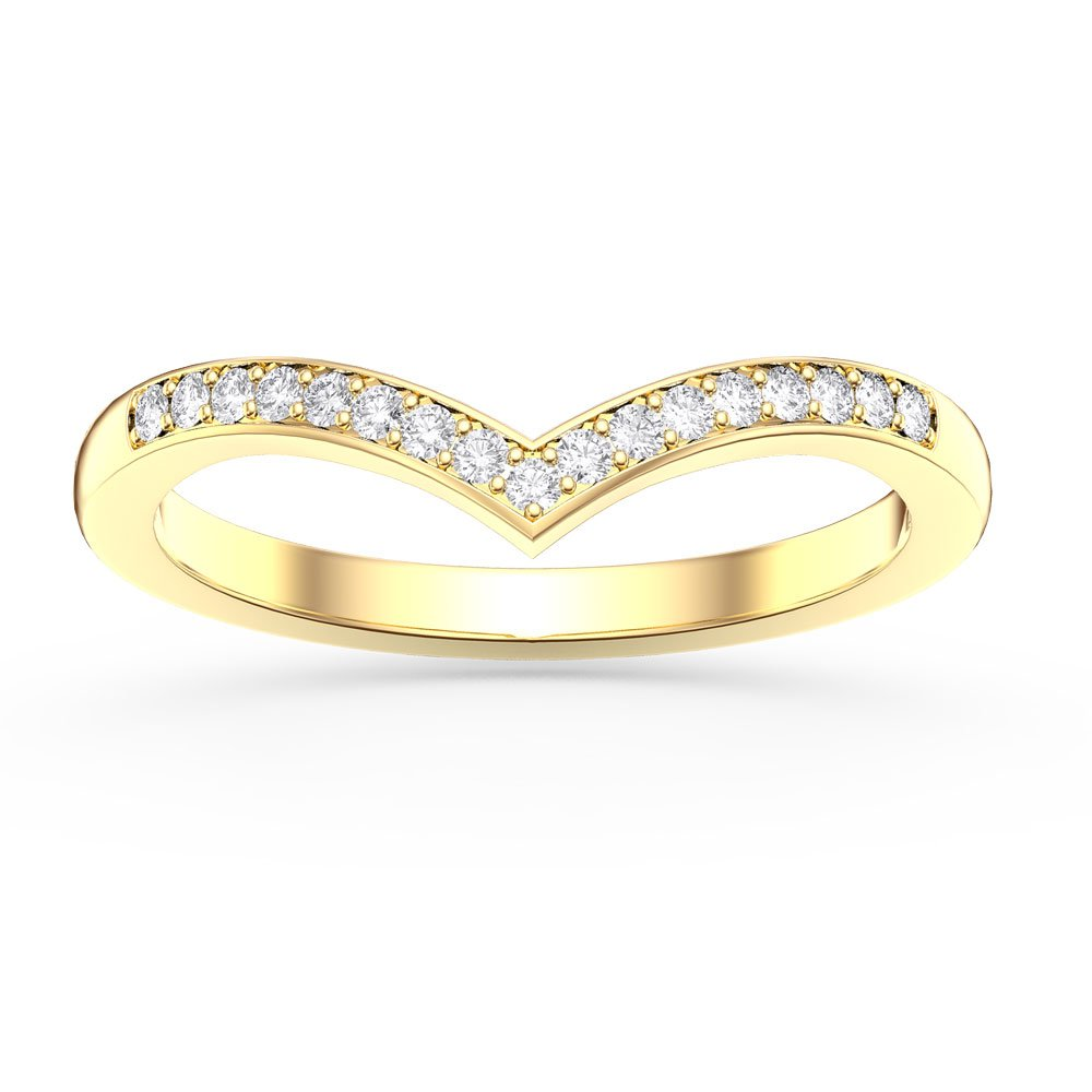 unity diamond wishbone 18ct yellow gold wedding ring