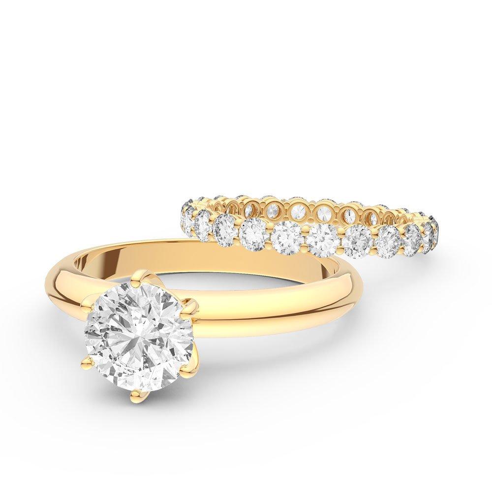 Unity 2.5ct Diamond 18ct Yellow Gold Full Eternity Wedding