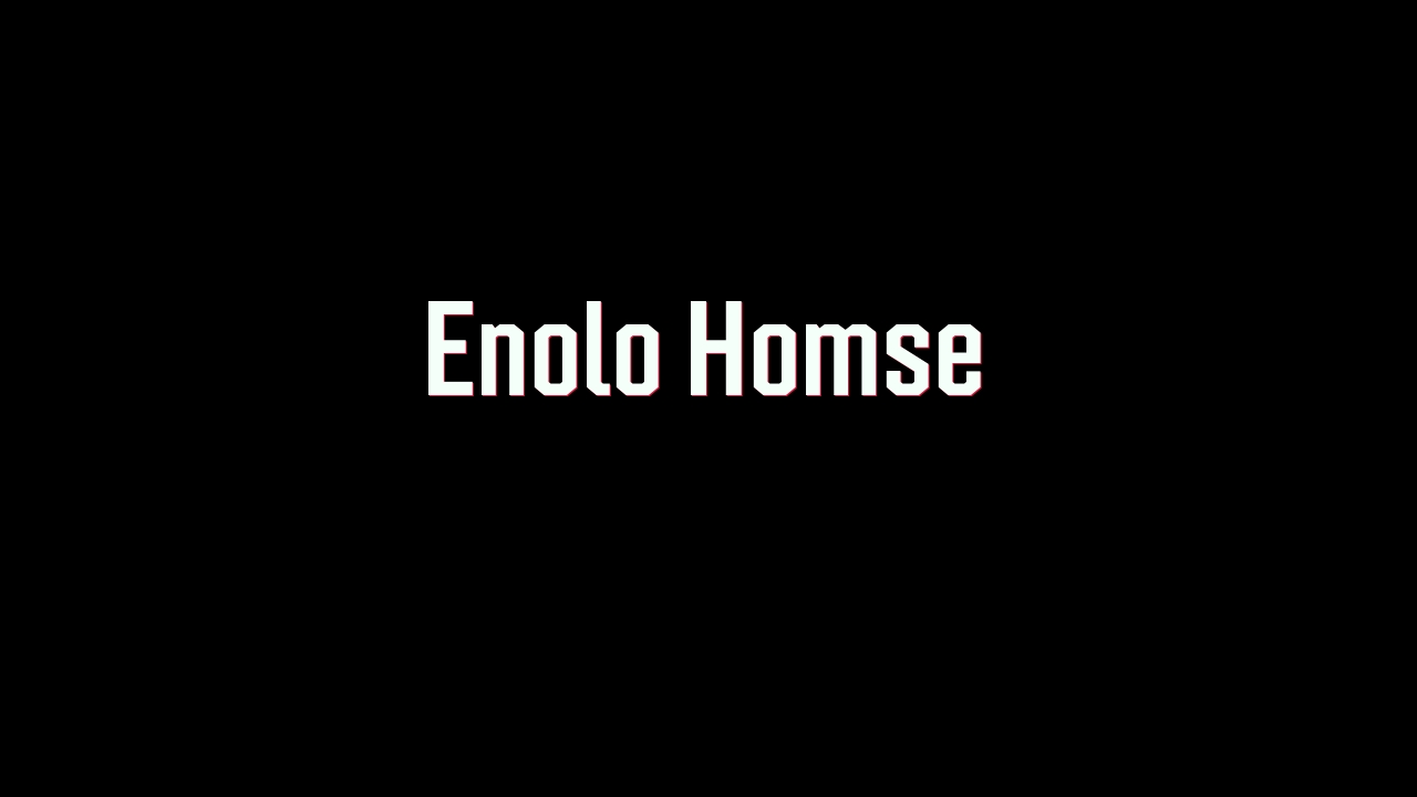 Enola Holmes in the style of Sherlock Holmes