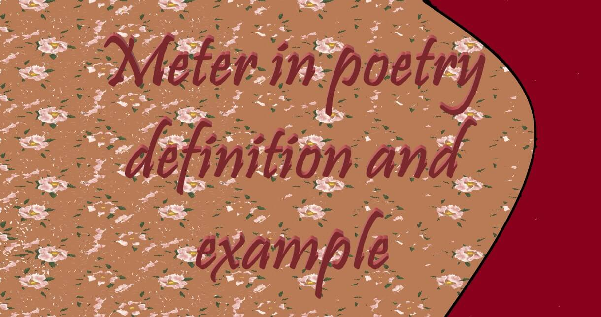 Meter poetry definition and example