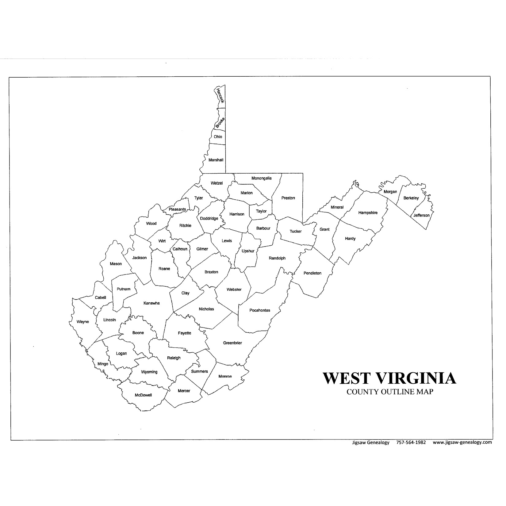 West Virginia On Us Map