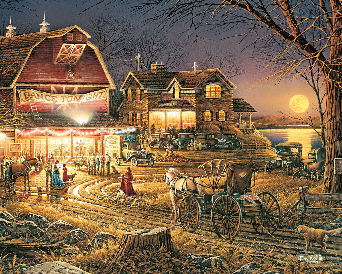 Fall Harvest Computer Wallpaper Terry Redlin Puzzles Absolutely Stunning Collection