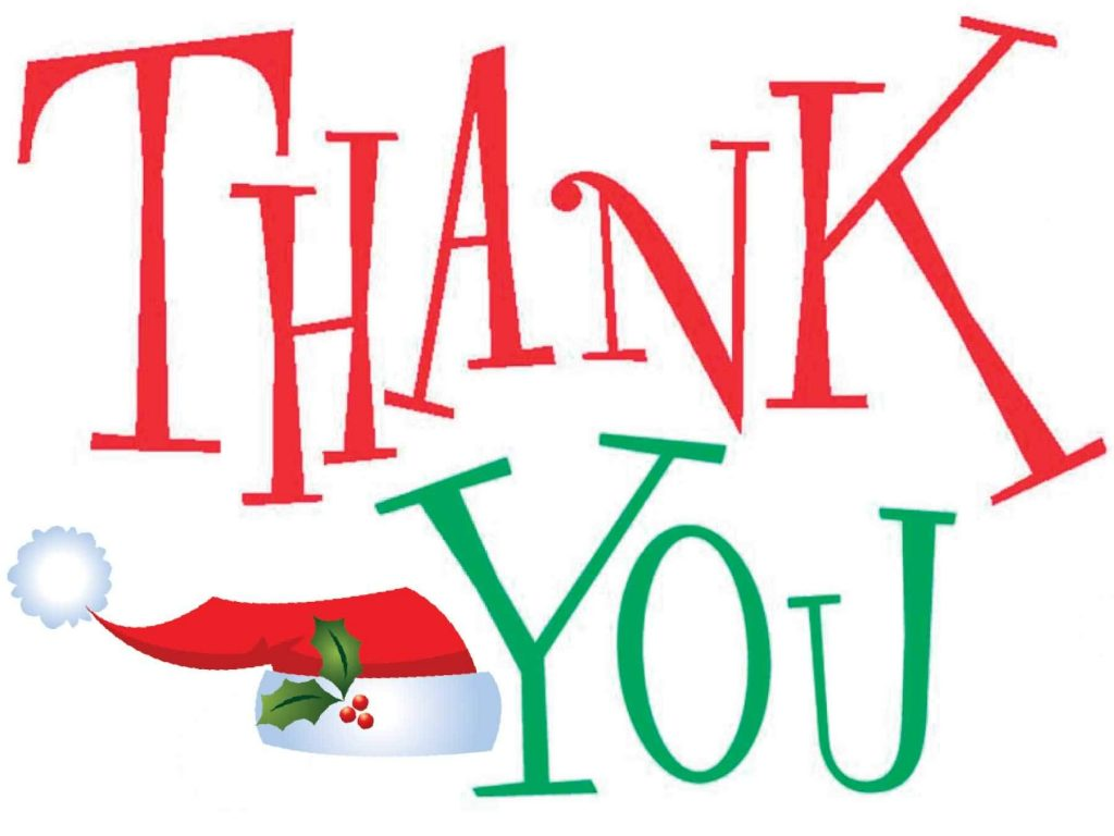 hight resolution of christmas thank you clip art free clipart images 2