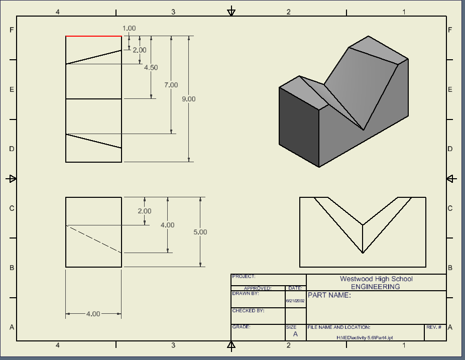 Activity 71  More Dimensioning