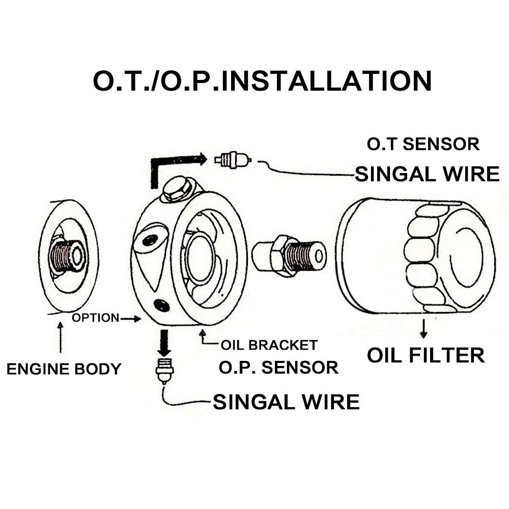Silver Racing Sport JDM Aluminum Oil / Gauge Filter