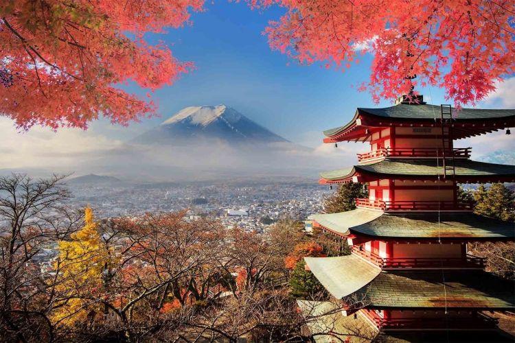 reiki tanfolyam fuji hegy és pagoda eredeti kép