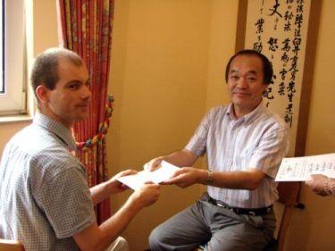 Szabó Gábor Tadao Yamaguchi reiki tanári oklevál átadás