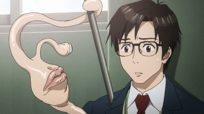 Parasyte Ep 3 Migi and Shinichi fight