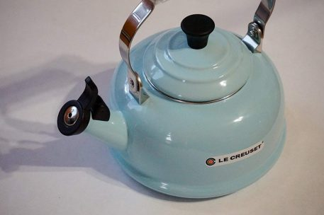 Le Creuset Enamel  for glass cooktop, made of steel , whistling kettle