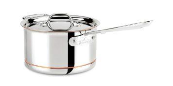 All-clad copper core bonded dishwasher safe double handle saucepan