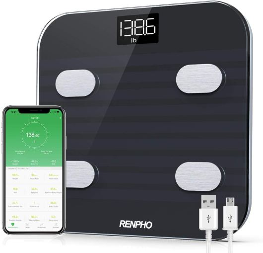 Rechargeable Digital Body weight Bathroom scale with Smart Phone App
