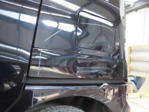 さいたま市:スズキスペーシア 酷いヘコミの板金修理