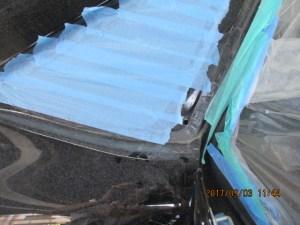 ハリアー クォーターパネル鈑金塗装 黒 202