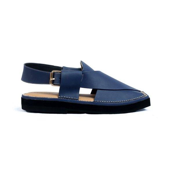 Kaptaan-Blue-Mens-Handmade-Leather-Peshawari-Chappal-Pakistan-UK