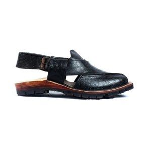 Narozi-Black-Mens-Handmade-Leather-Peshawari-Chappal-Pakistan-UK