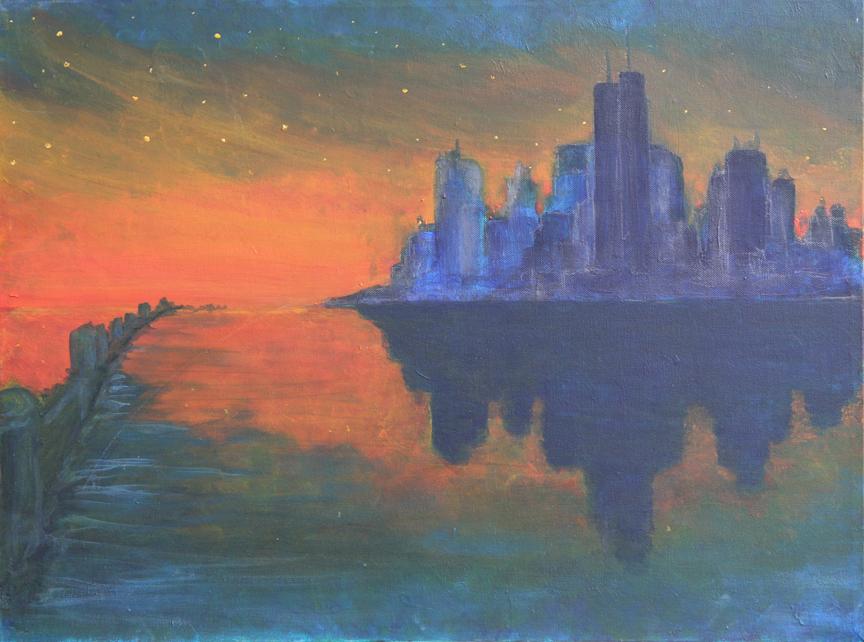 Future Skyline Sunset
