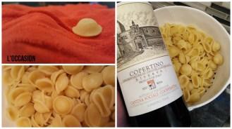 The special shape of the orecchiette pasta.