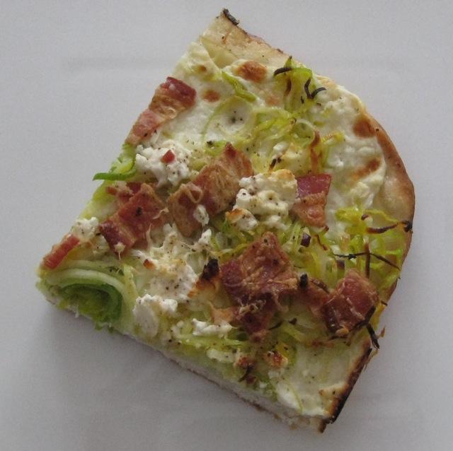 Slice of Poato-Leek Pizza