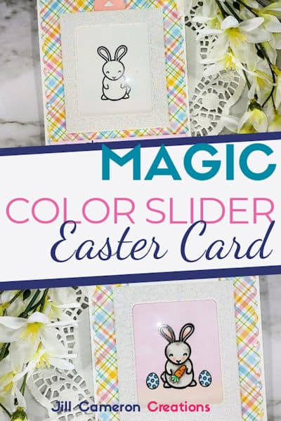 Magic Color Slider Easter Card