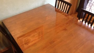 We Put A Glass Top On Our Wooden Kitchen Table Jill Cataldo