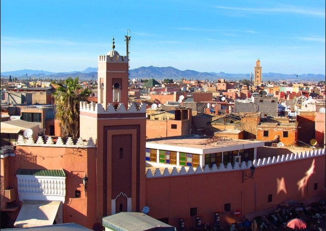 Jill Dawson in Marrakesh