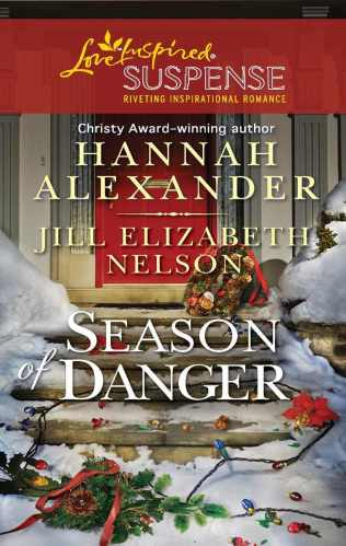 Cover for Jill Elizabeth Nelson's novella Mistletoe Mayhem, A Love Inspired Suspense Mystery, Published in the 2 novella collection, Season of Danger
