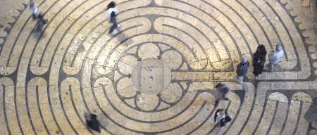 Labyrinth at Chartres Cathedral by photographer Jill K H Geoffrion