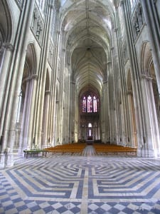 St. Quentin Cathedral labyrinth by photographer Jill K H Geoffrion