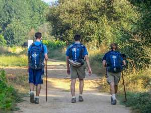 Pilgrims on the Camino de Santiago by photographer Jill K H Geoffrion
