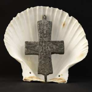 Christian pilgrimage shell and cross by photographer Jill K H Geoffrion