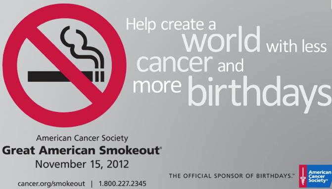 Great American Smokeout!
