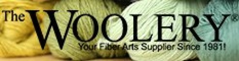"""Picture of green yarn and the title """"The Woolery: Your Fiber Arts Supplier Since 1981!"""""""