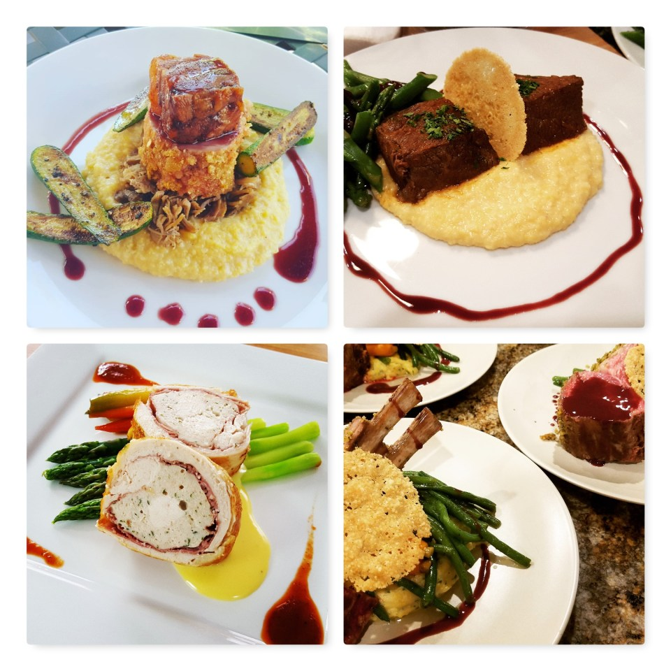 Dinner party Entree Courses