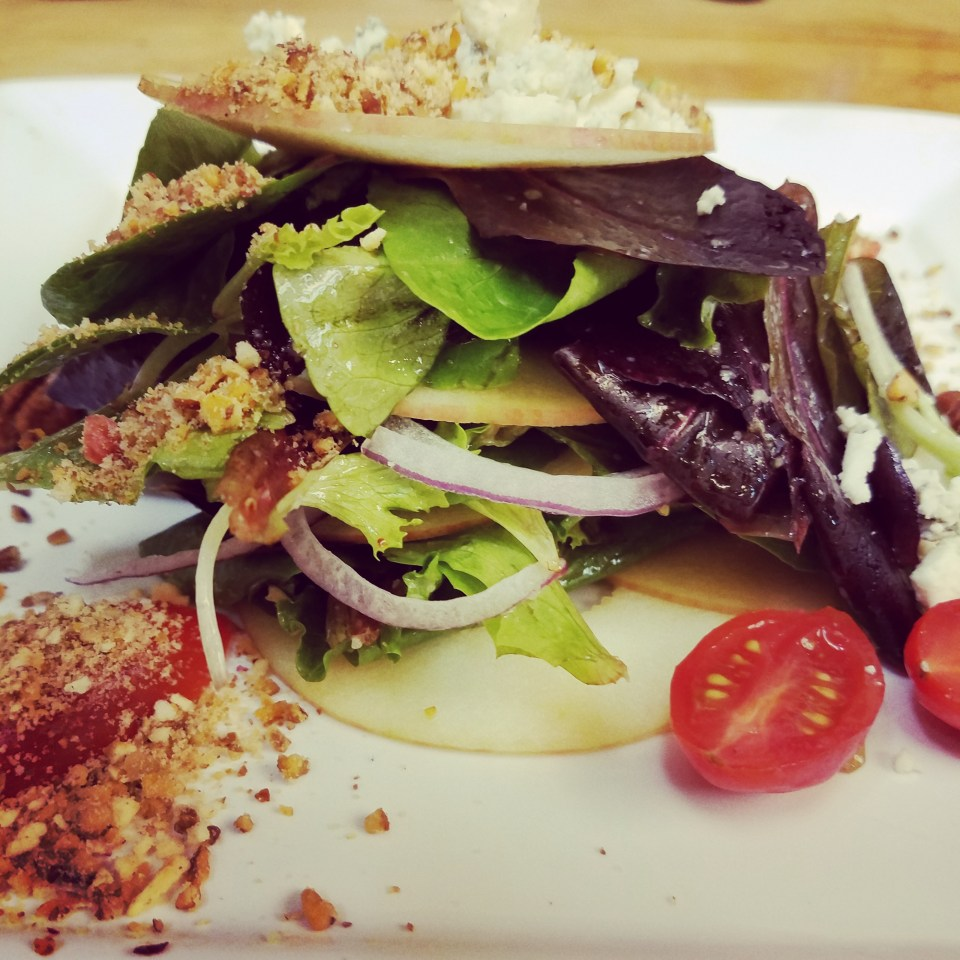 Fuji Apple and Pecan Salad with White Balsamic Vinaigrette