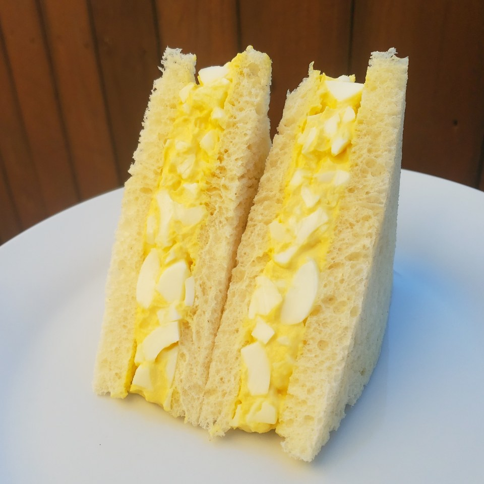 Fluffy Egg Salad Sandwich Standing Tall