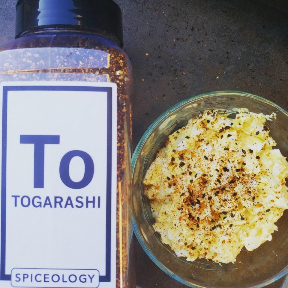 Fluffy Egg Salad with Spiceology Togarashi